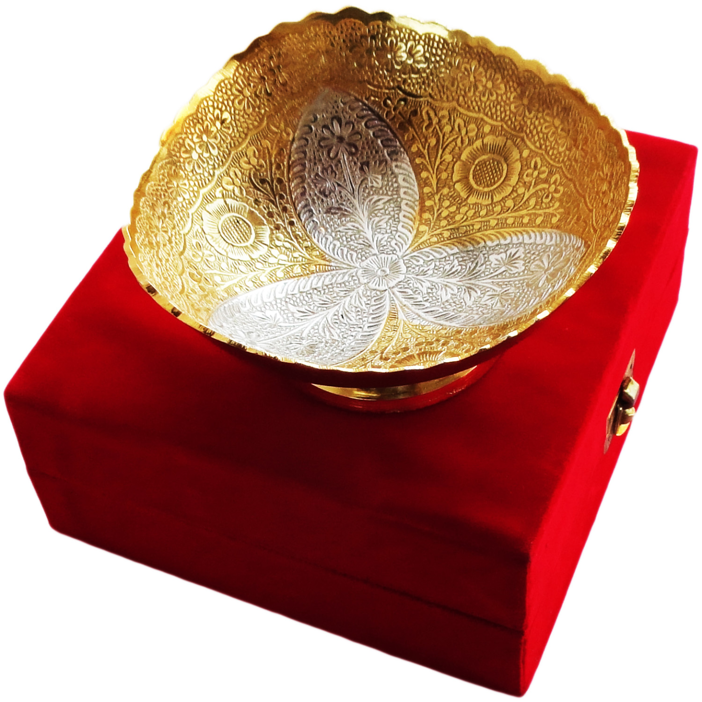 Brass Bowl With Brass Finish - 6 Inch (B064)