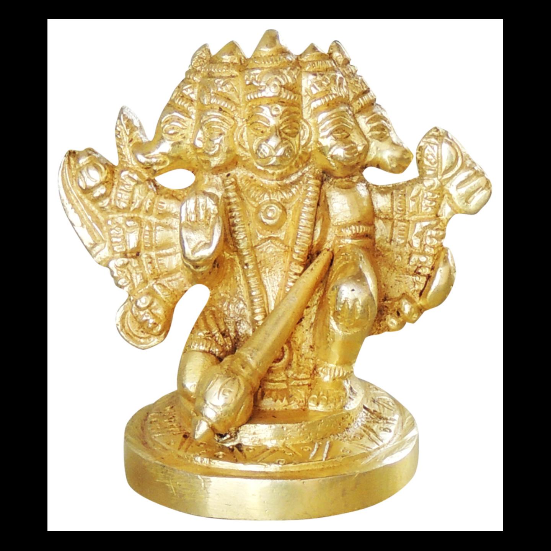 Brass Pnachmukhi  Hanumanji Sitting 300 gm - 2*1.5*3 inch (BS1039 B)