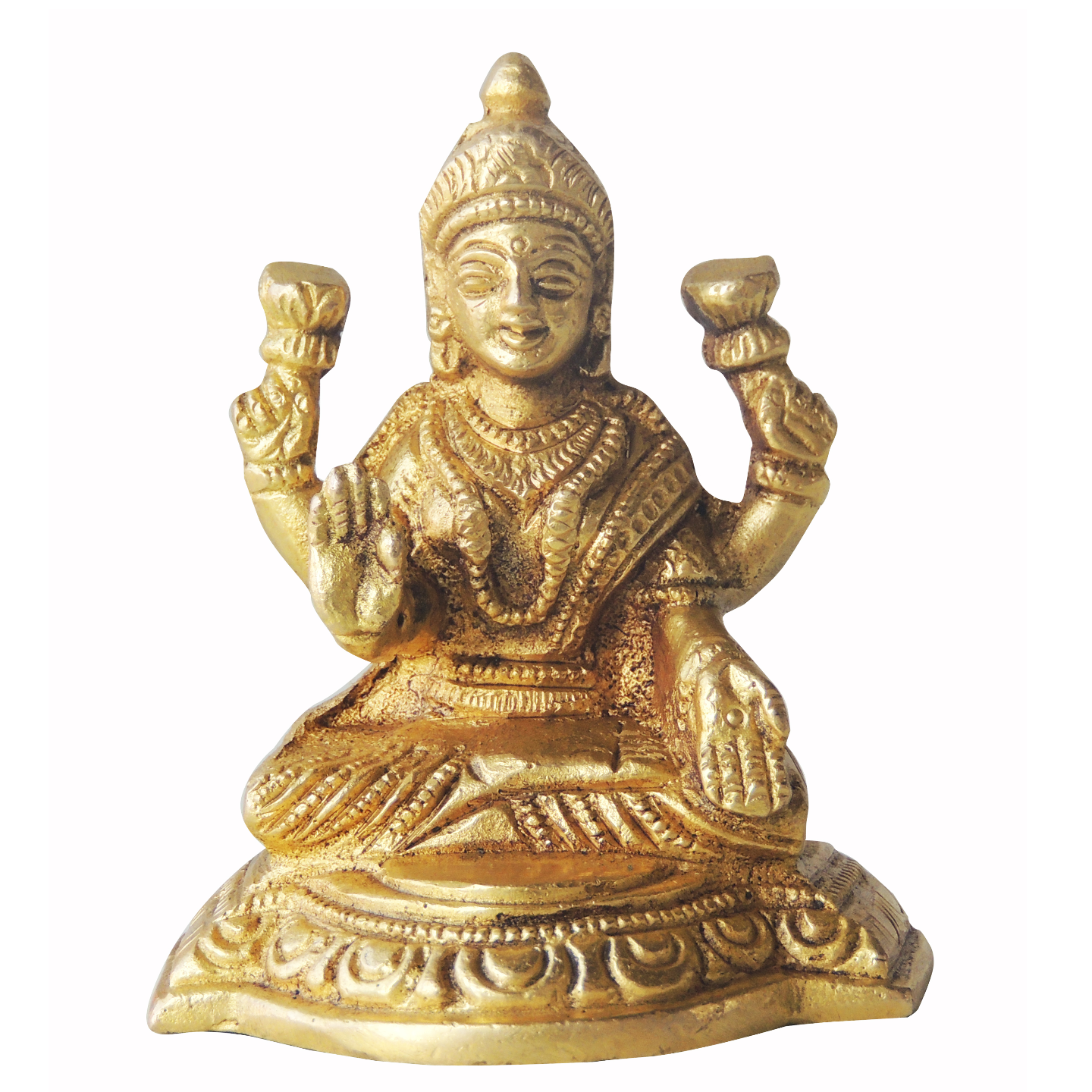 Brass Showpiece Laxmi Ji - 3 Inch (BS1224 L)