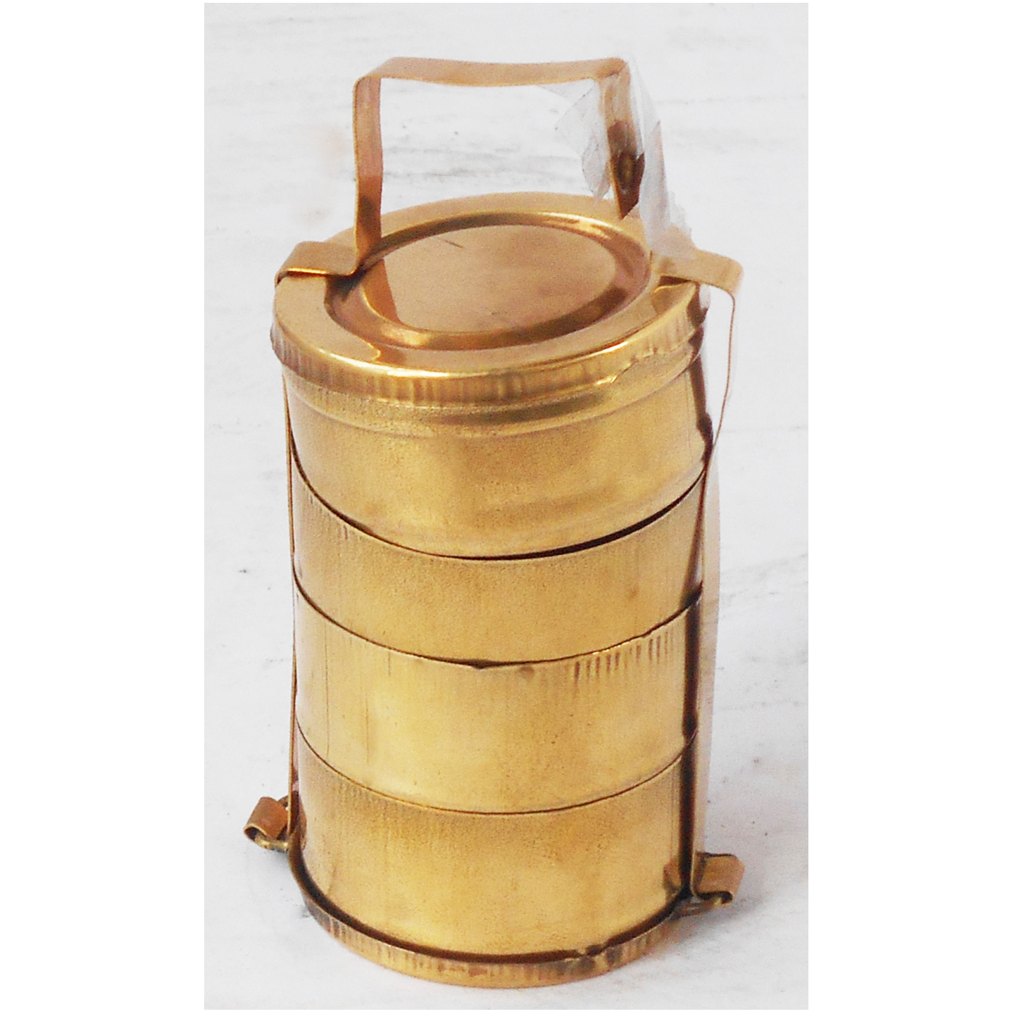 Brass Lunch Box Small Miniature Toy For Children Playing -1.61.63.5 Inch Z370 E