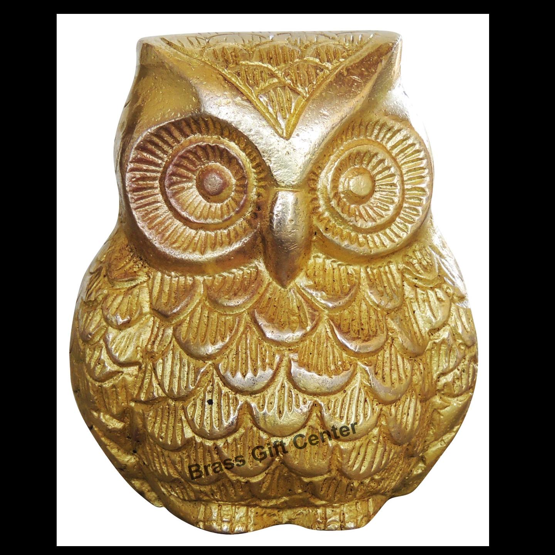 Brass Owl Uluu 660 Gm - 4 Inch  AN237 D