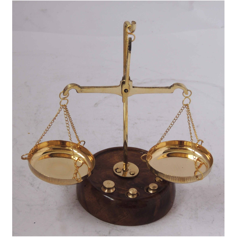 Brass Taarzu 10 gm Weighing Machine - 5.52.55.5 inch  Z303 B