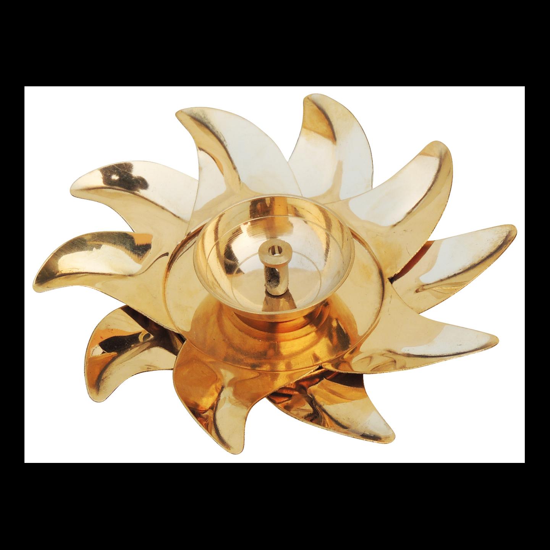 Brass Surya Deepak - 6 Inch, No. 2 Z490 B