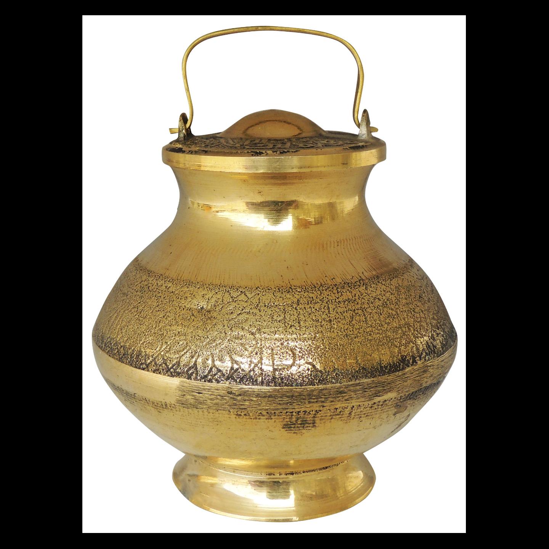 Brass Ganga Jali Ganga JAL Patra No. 6 400 ml - 4*4*5.2  Inch  (Z200 Q)