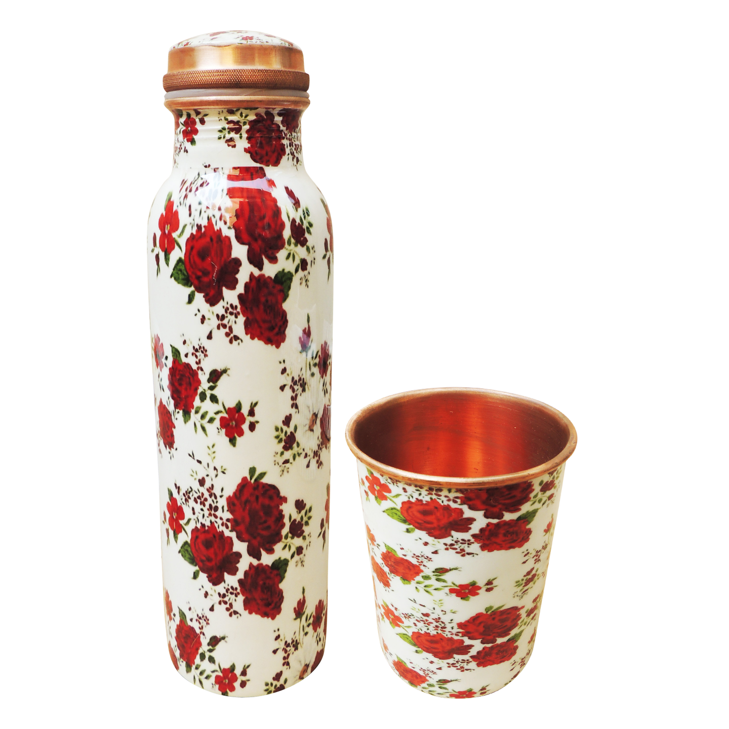 Copper Water Set With 2 Glass - 1 Ltr BC143 E
