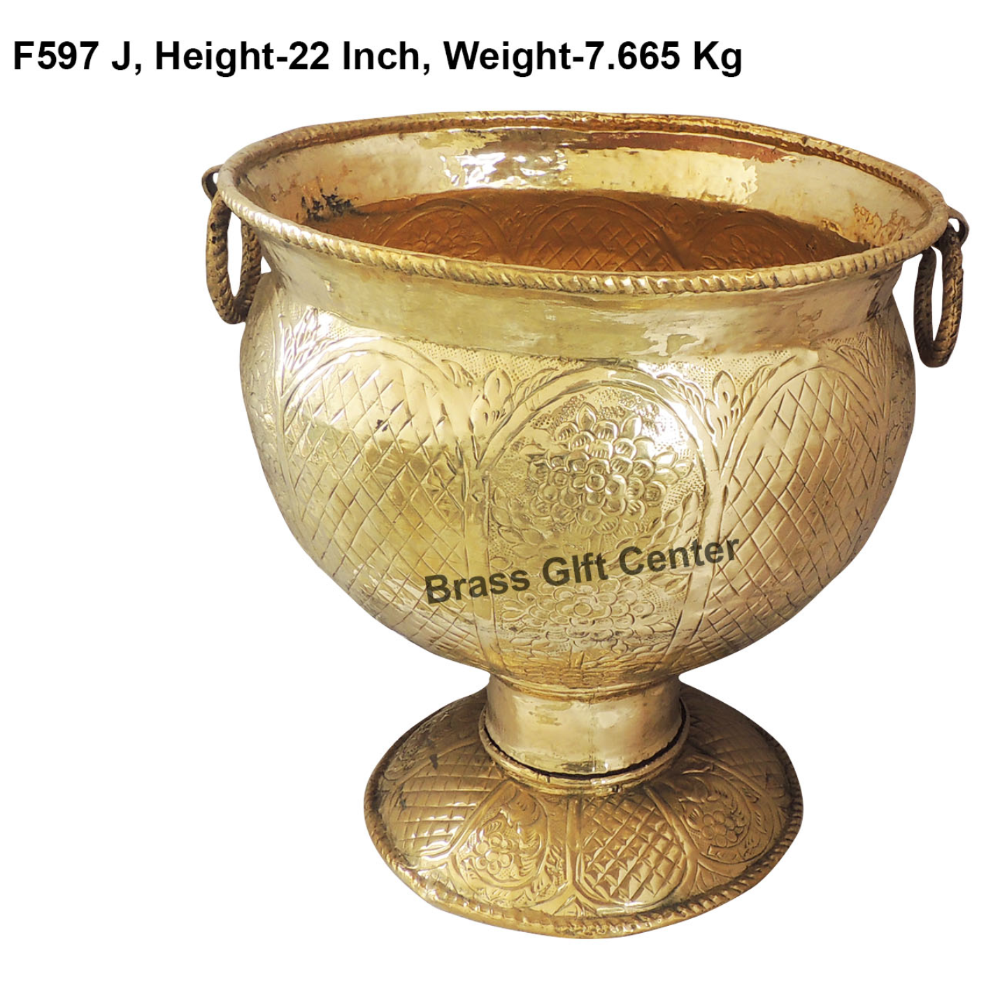 Brass Planter with Base - 202022 inch F597 J