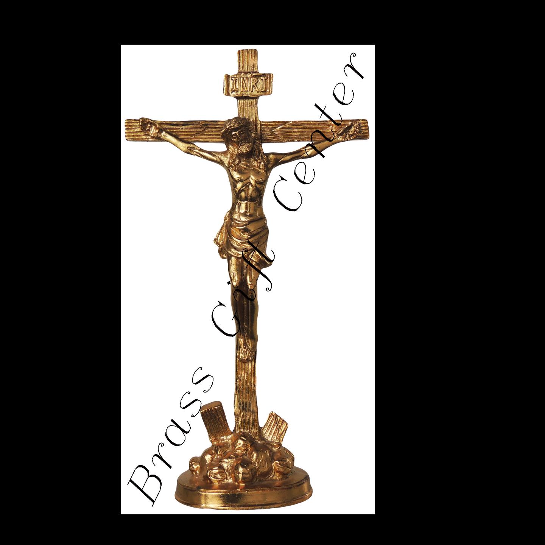 Brass Jesus On Cross- 4312 Inch BS288