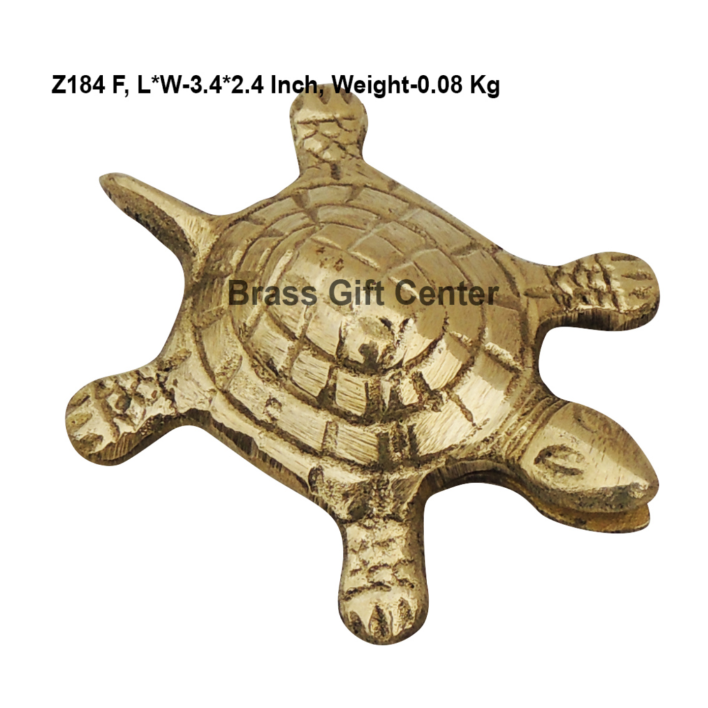 Brass Kachua Torotoise No. 3 Fenshui Vastu Items - 3.42.41 Inch  Z184 F