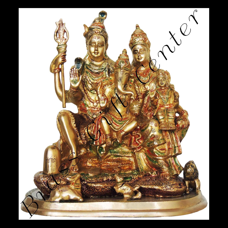Brass Showpiece Shiv Parivar - 13 Inch BS419