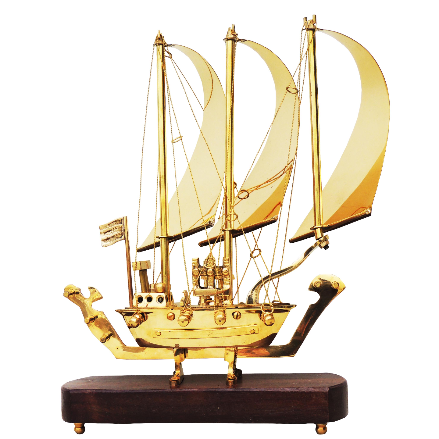 Brass Ship In Shinning Brass Polish finish - 12 Inch MR128 A