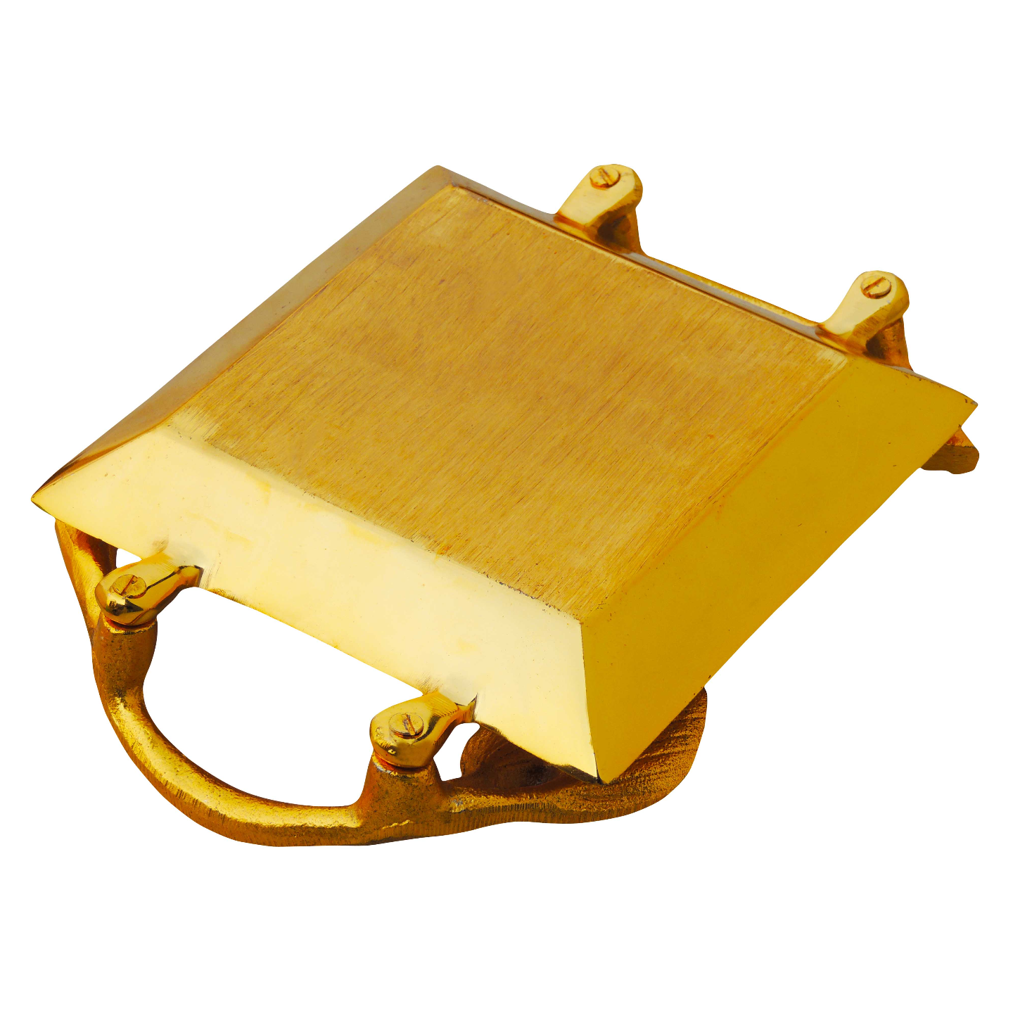 Aluminium Metal Tray Serving Platter in Gold Finish - 9*6.5 Inch  (A3235/9)
