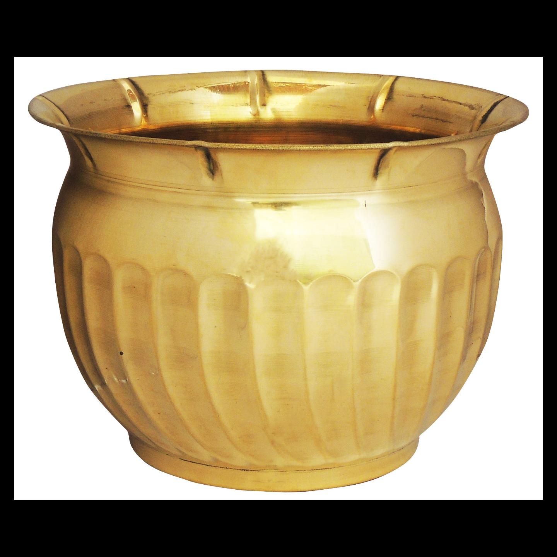 Brass planter Pot Gamala Diameter 10 Inch weight 750 gm  (F253)