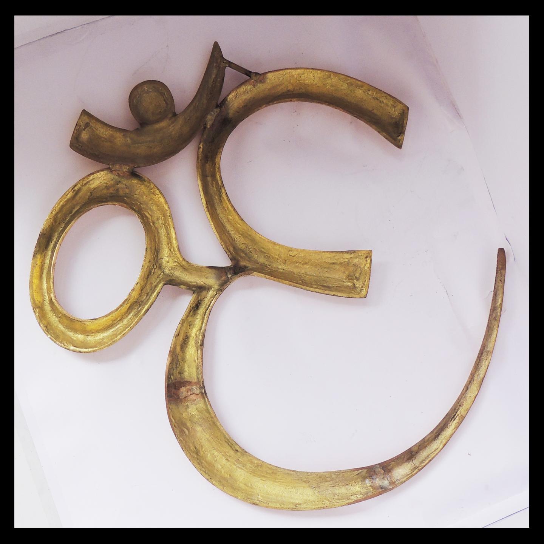 Brass Wall Hanging Om - 20*20 Inch  (F657 H)