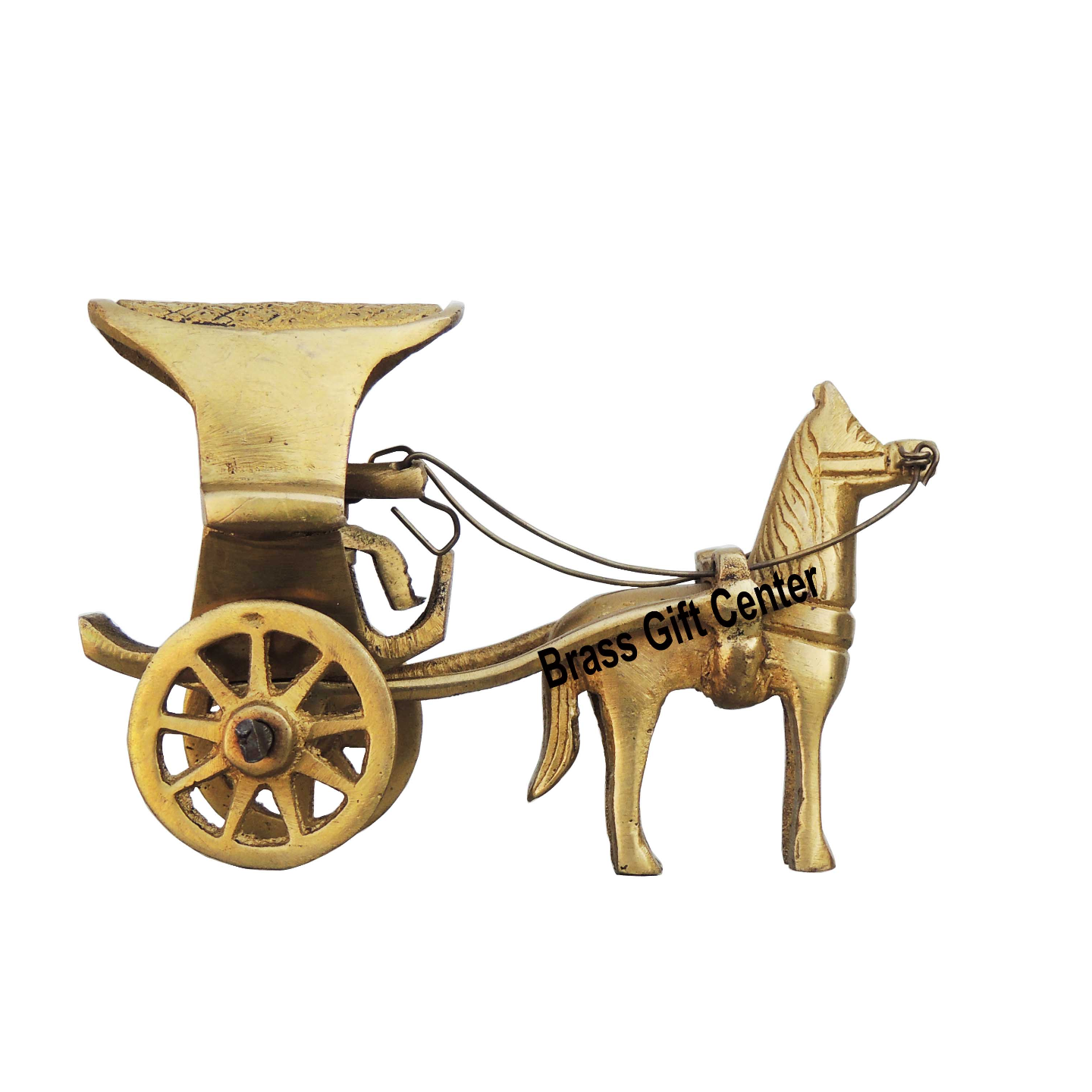 Brass Horse Cart - 3.81.82.3 Inch BS258