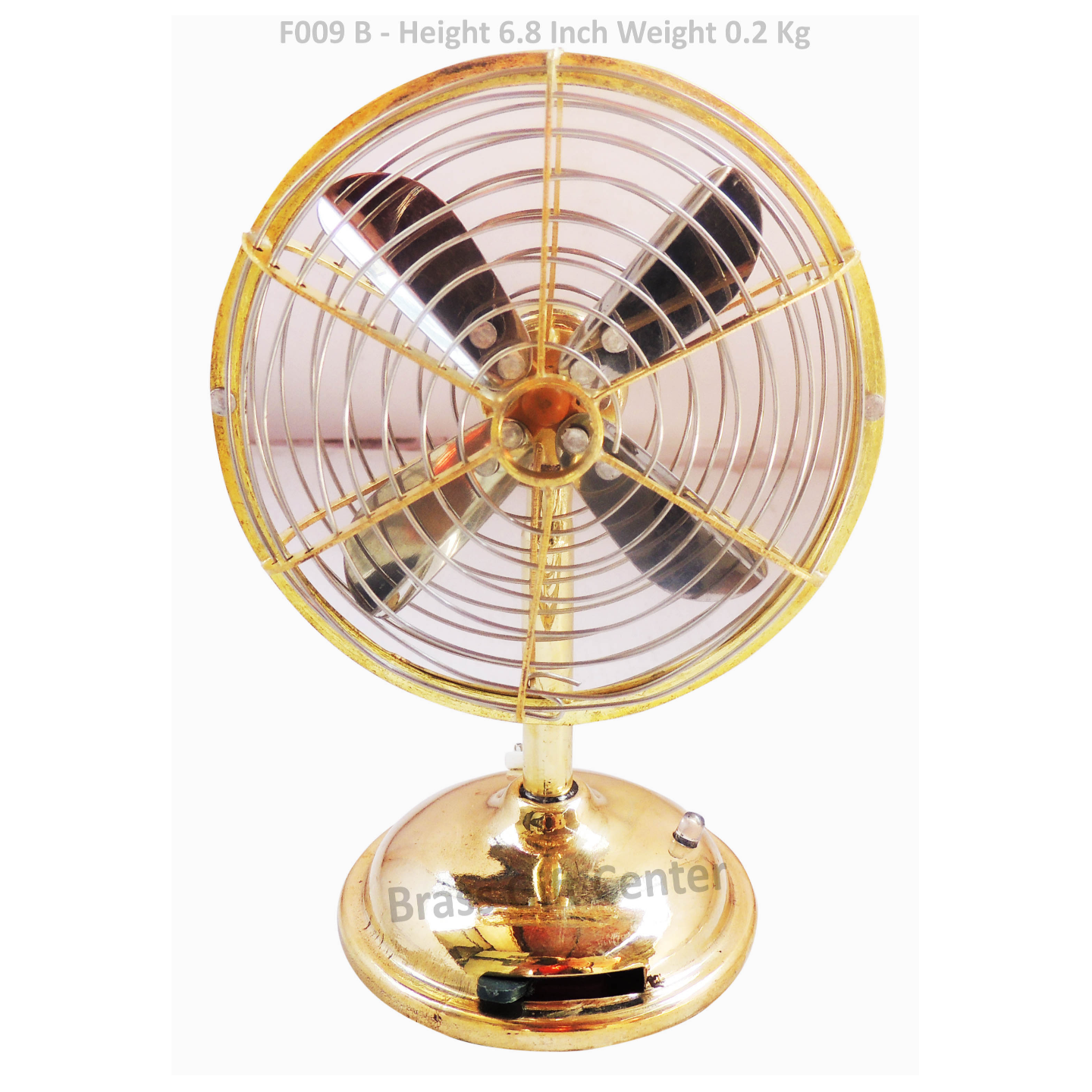 Brass Laddu Gopal Fan - 6.8 Inch (F009 B)