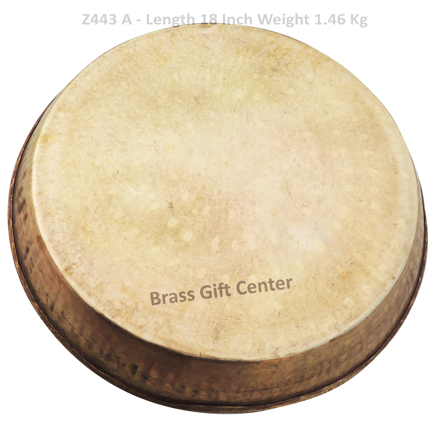 Brass Thaal With Brass Finish Diameter 18 Inch (Z443 A)