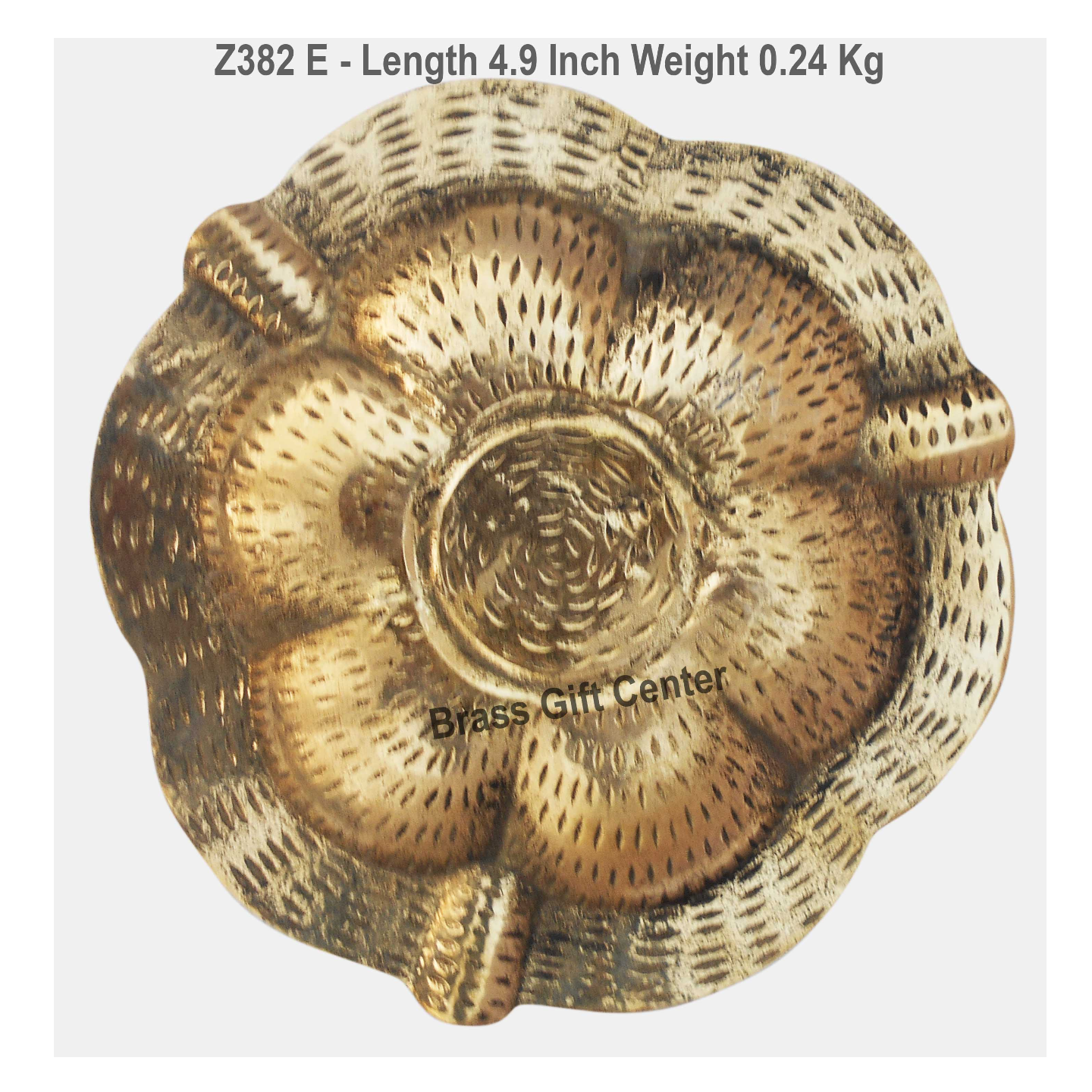 Brass Ash Tray With Multicloured Finsih -  4.9 Inch Z382 E