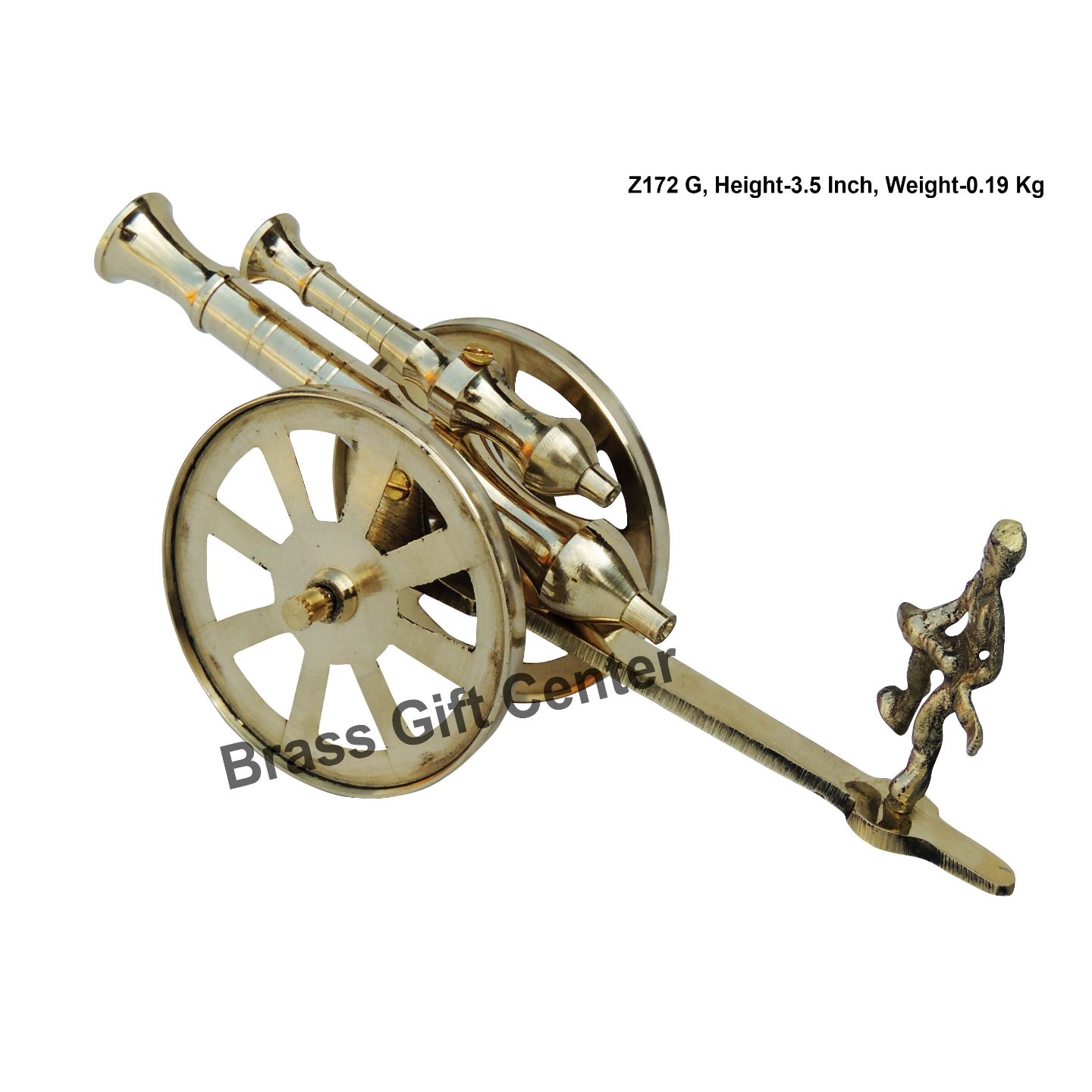 Brass Small Toop Cannon No 8 - 7.6*2.7*3.5 Inch  (Z172 G)