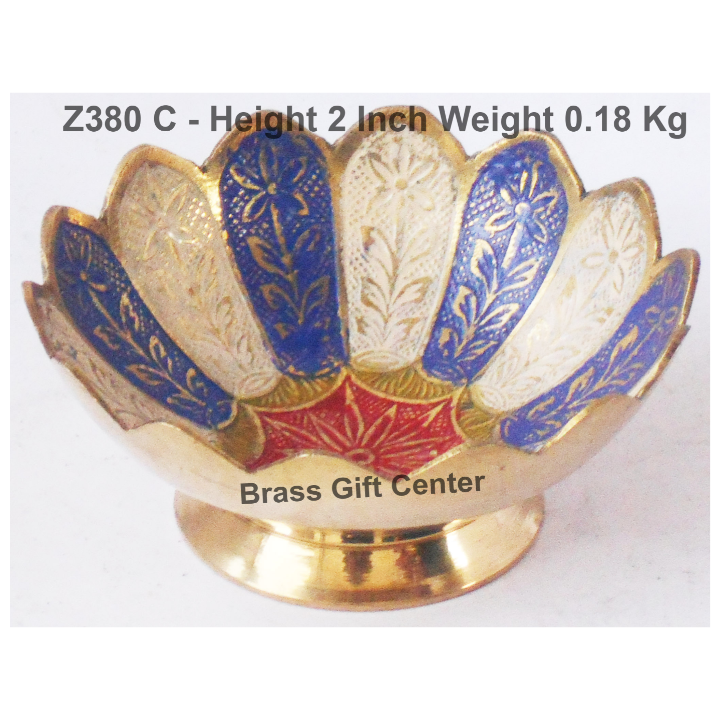 Brass Lotus kamal Shape Bowl Multicolour - 4.5 Inch (Z380 C)