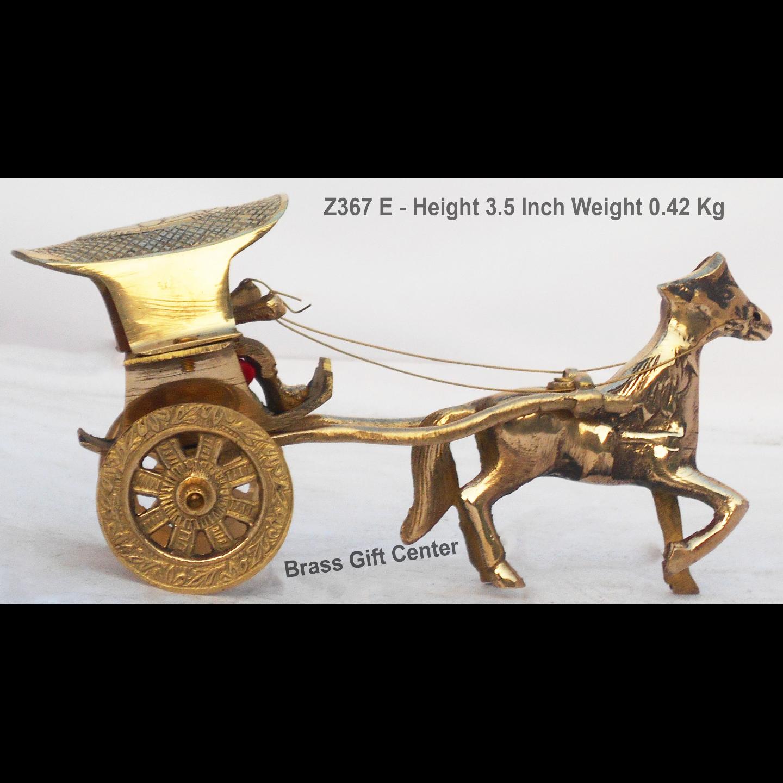 Brass Horse Cart Goda Gaddi - 8*3*3.5 Inch (Z367 E)