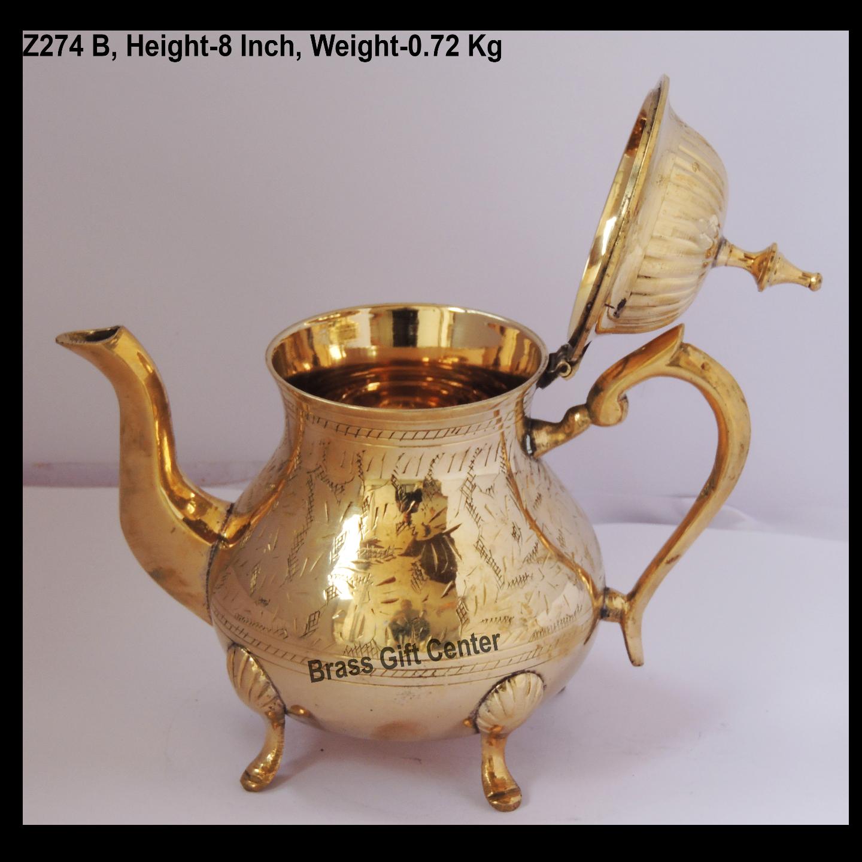 Brass Tea Pot Kettle 650 Ml -  8*5*8 Inch  (Z274 B)