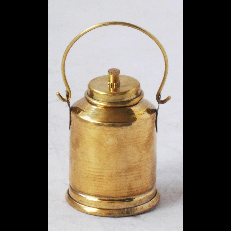 Brass Milk Bucket Miniature Toy For Children Playing - 2*2*4.8 Inch (Z343 C)