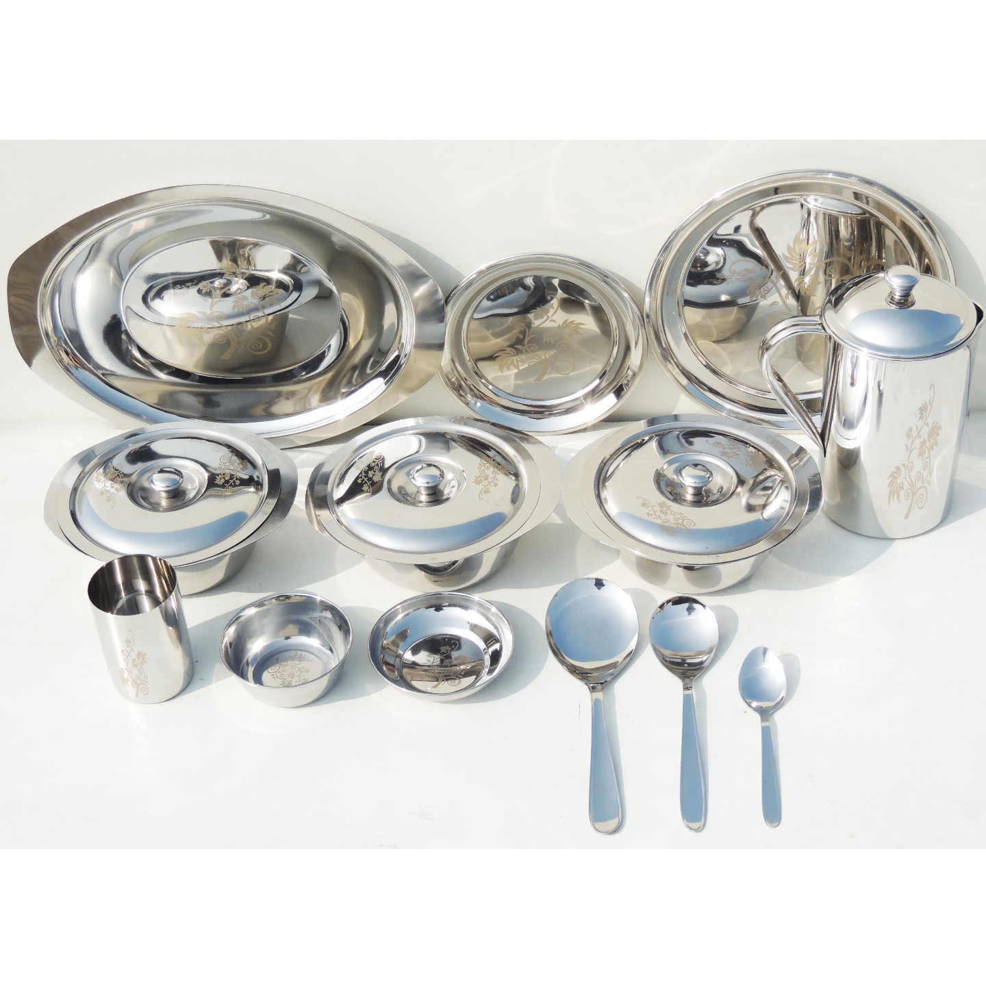 Steel Dinner Set Life Time 51 pcs - 6.8 kg with box S063 A