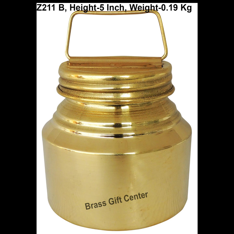 Brass Ganga JAL Pitcher Gangajali 500 ml- 3.83.85 inch  Z211 B