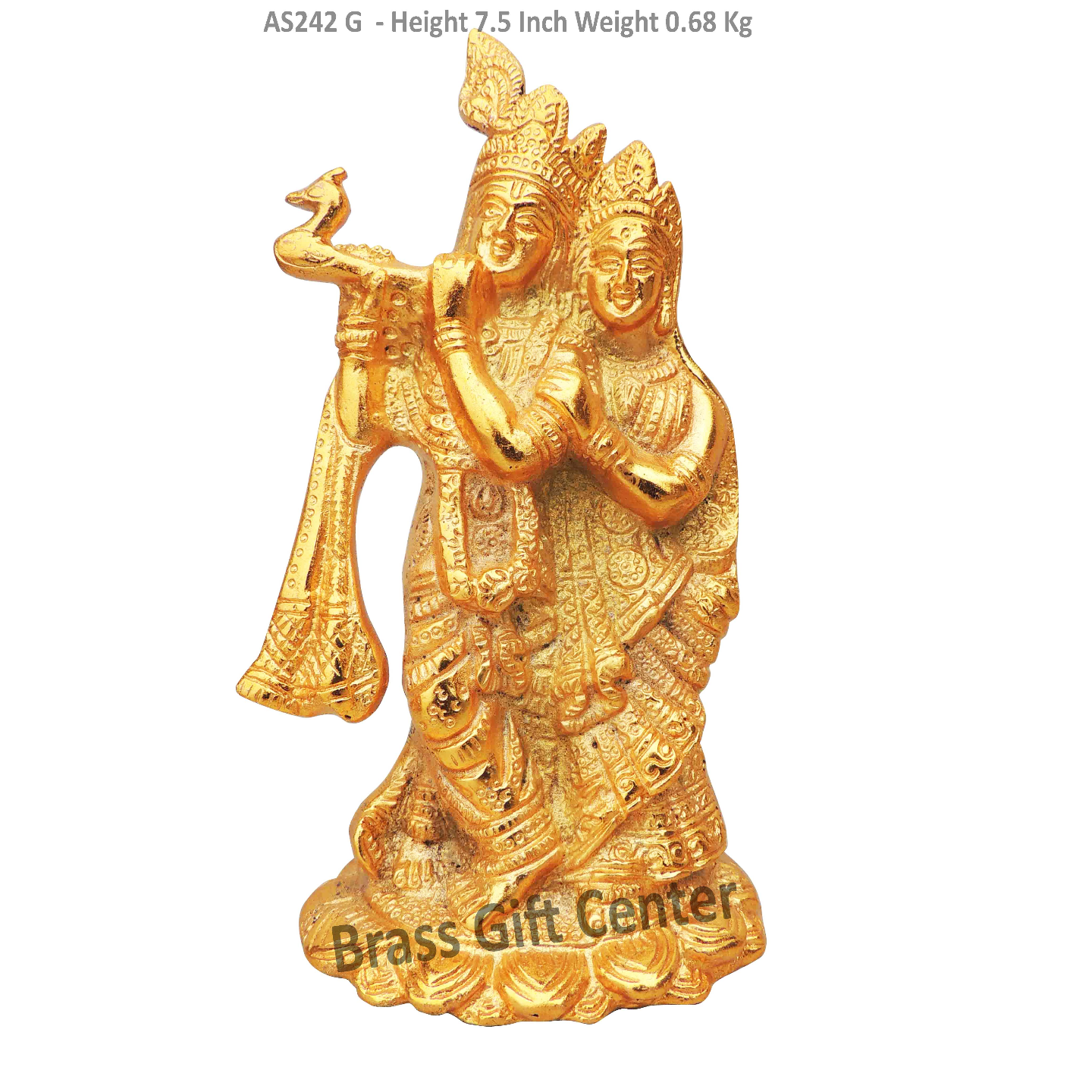 Radha Krishna Gold Antique Finish- 4.4*3*7.5 Inch (AS242 G)