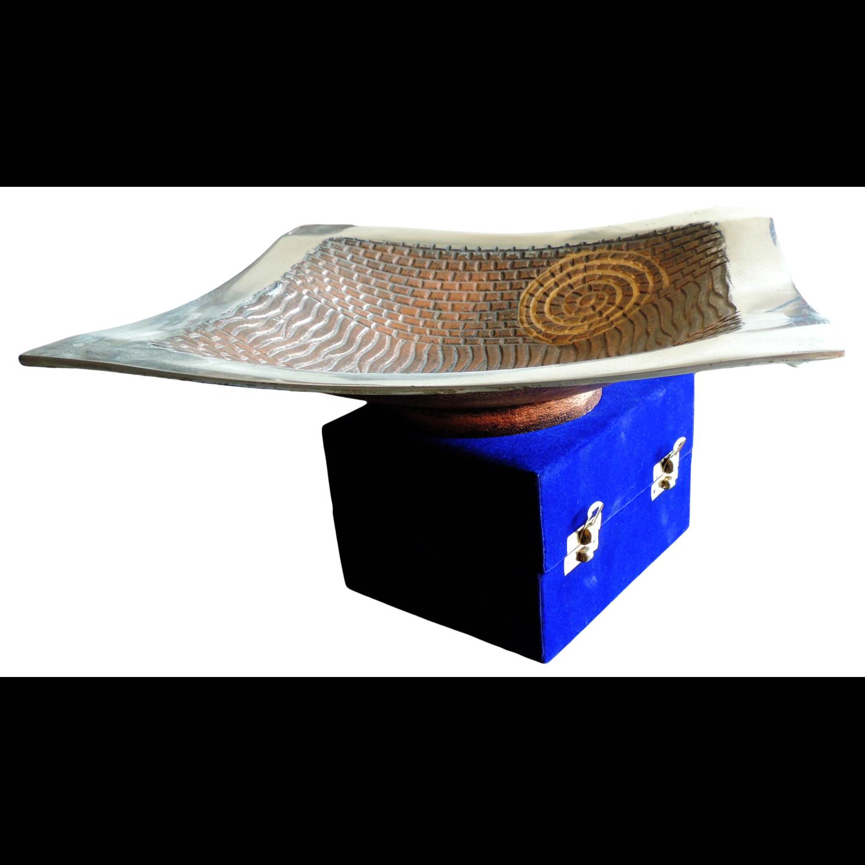 Aluminium Metal Rectangle Tray Serving Platter - 12*12*2 Inch  (A1616/12)