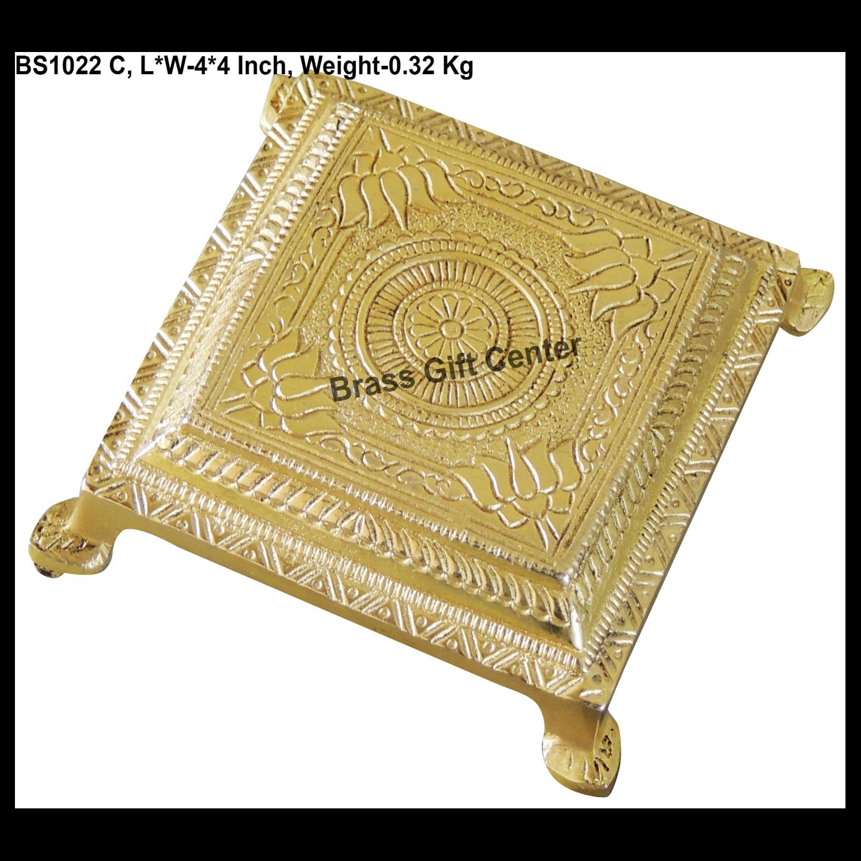 Brass Chowki Stool - 441.5 Inch  BS1022 C