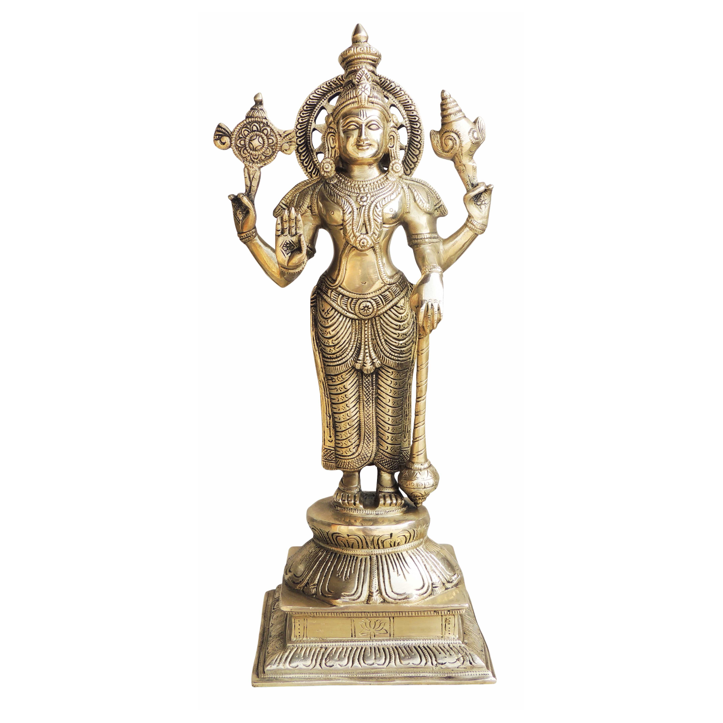 Brass Showpiece Vishnu Ji Statue - 17.5 Inch (BS985 V)