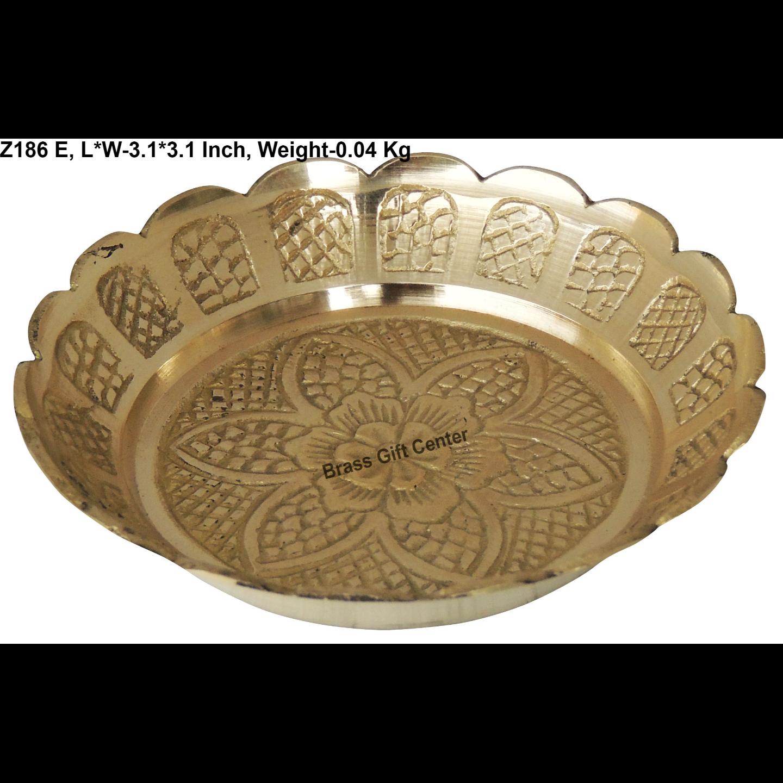 Brass Kachua [Tortoise] Plate No. 3 - 3.1*3.1 Inch  (Z186 E)