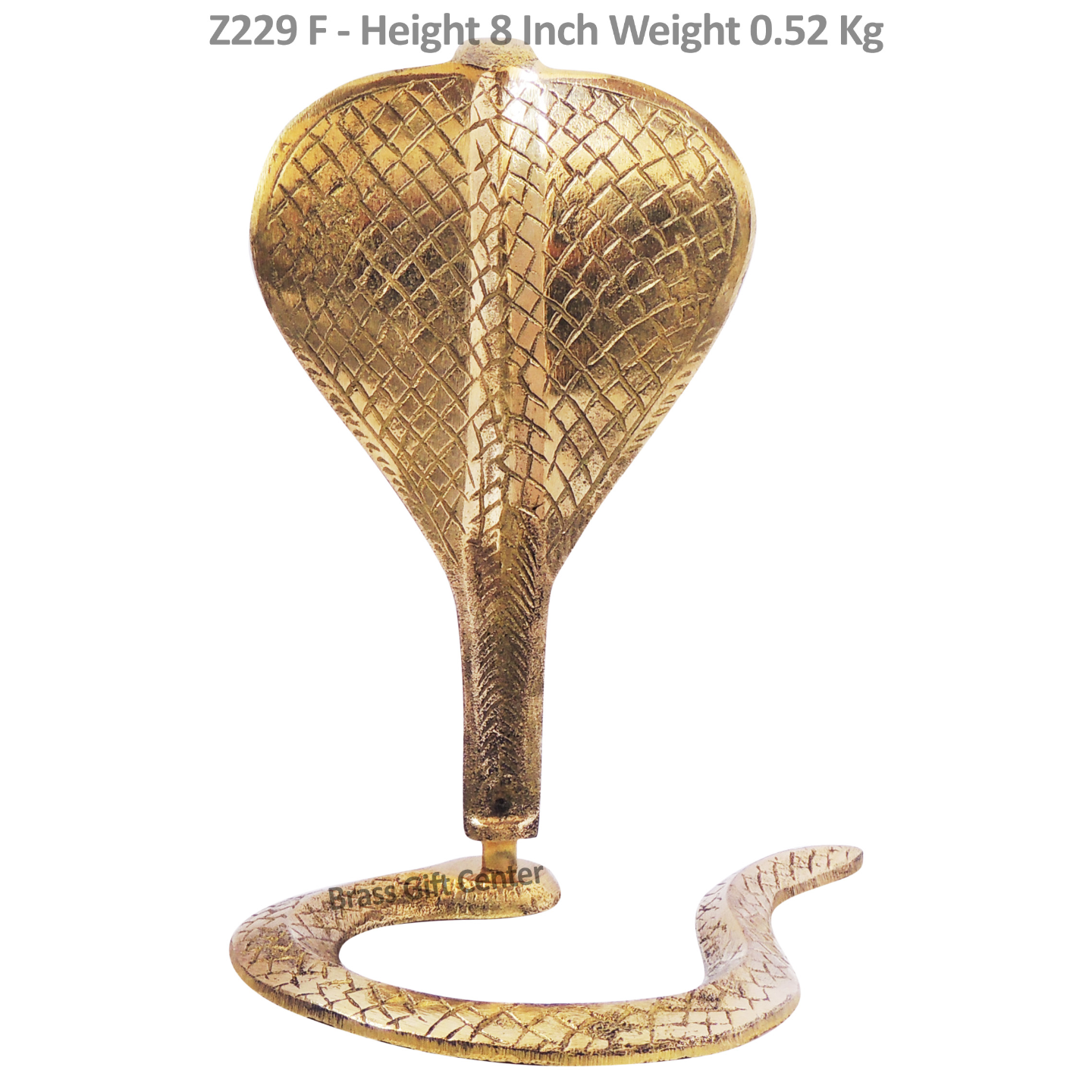 Brass Snake (Saap) For Shivling With Brass Finish, Height 8 Inch (Z299 F)