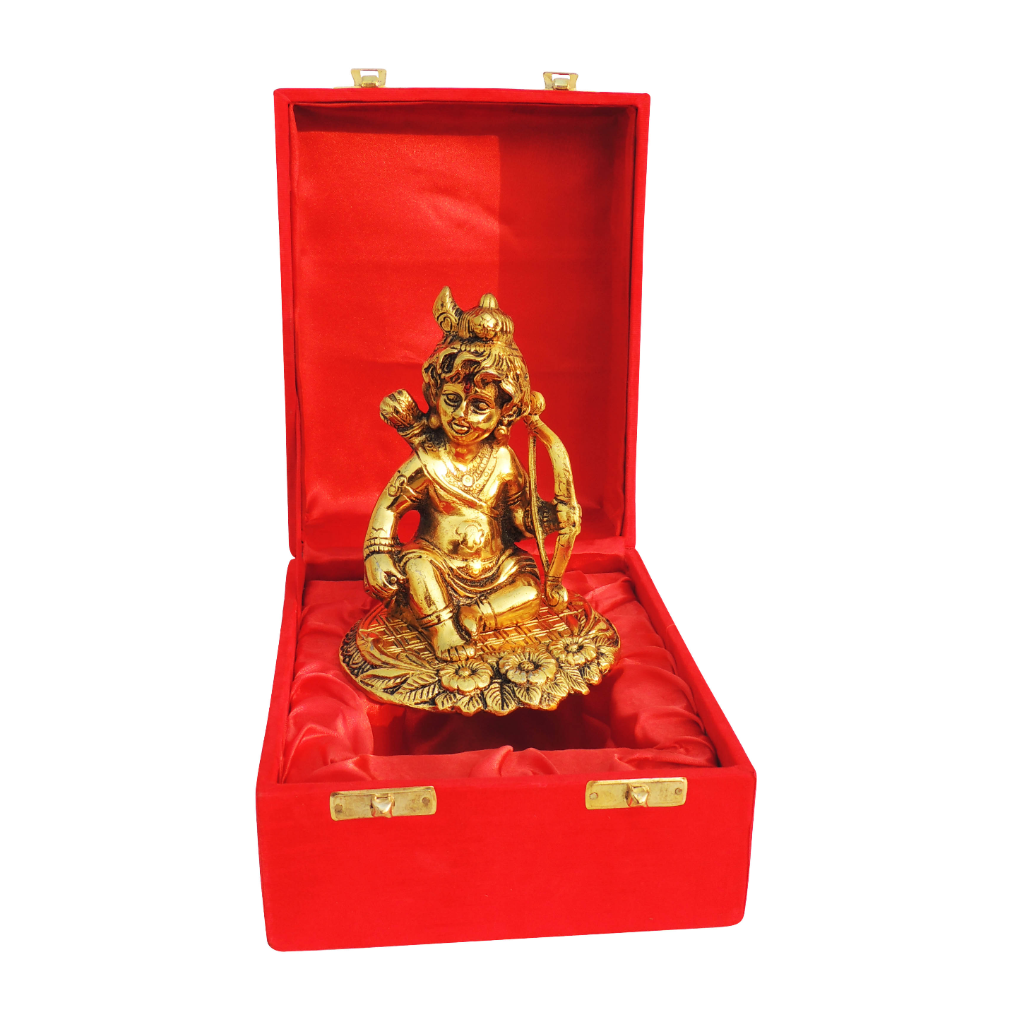 Showpiece Krishna With Dhanush (Bow)  In Golden Finish - 5.3 Inch (AS366 G)