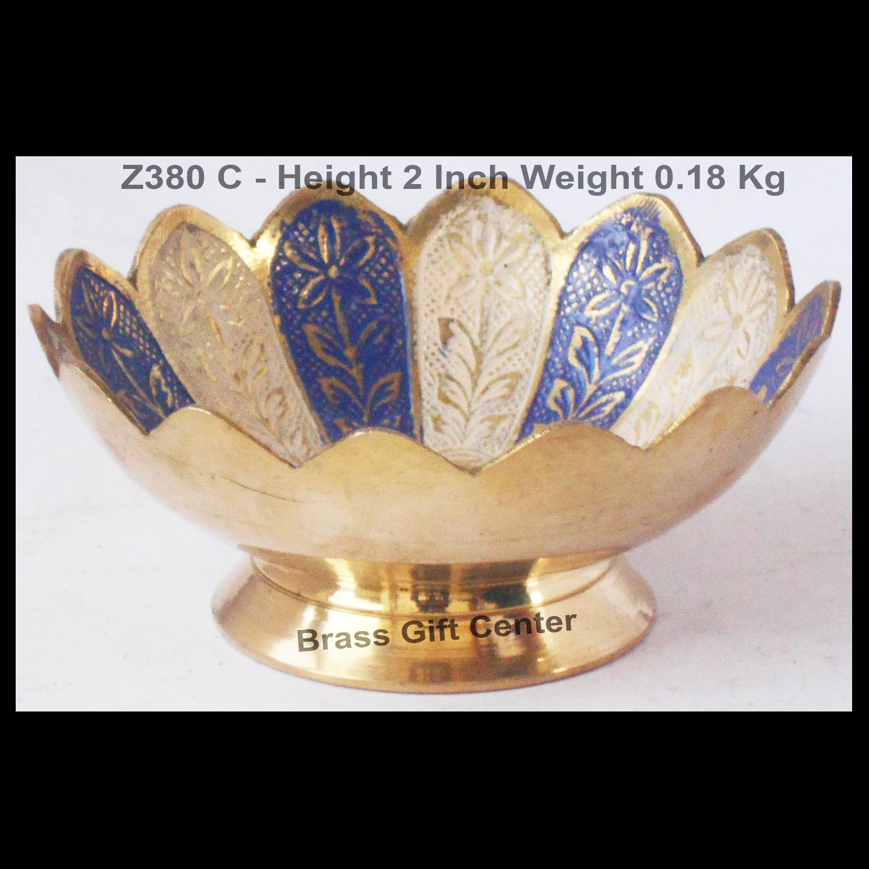 Brass Lotus kamal Shape Bowl Multicolour - 4.5 Inch (Z380 C)