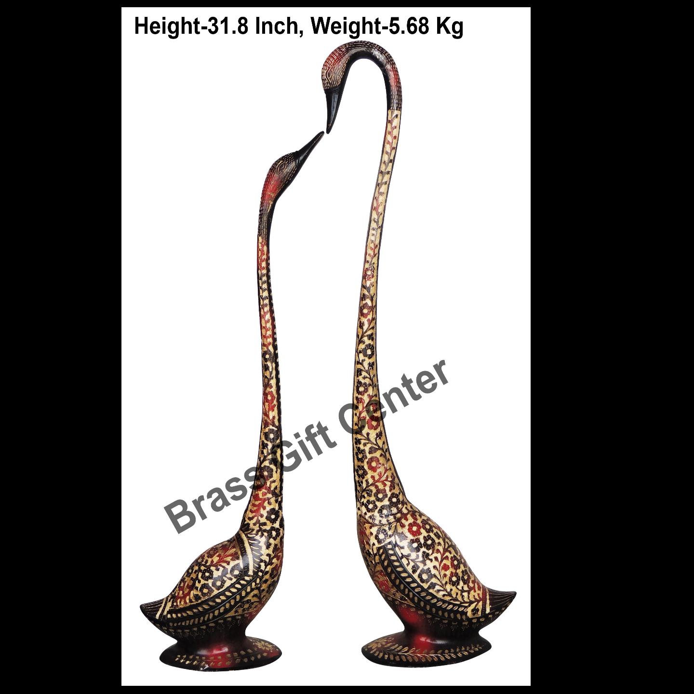 Brass Duck Pair With Handwork - 20*4.3*31.8 Inch  (AN219 A)