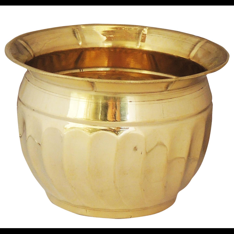 Brass planter Pot Gamala Diameter 6 Inch weight 200 gm  (F652 A)