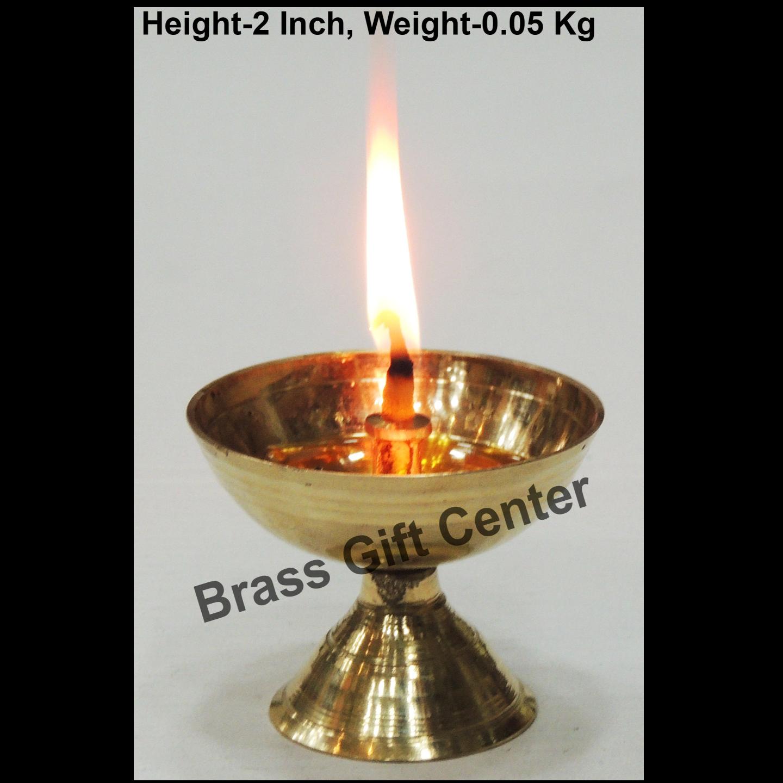 Brass Piyali Deepak Diya - 2.4*2.4*2 inch (F645 D)