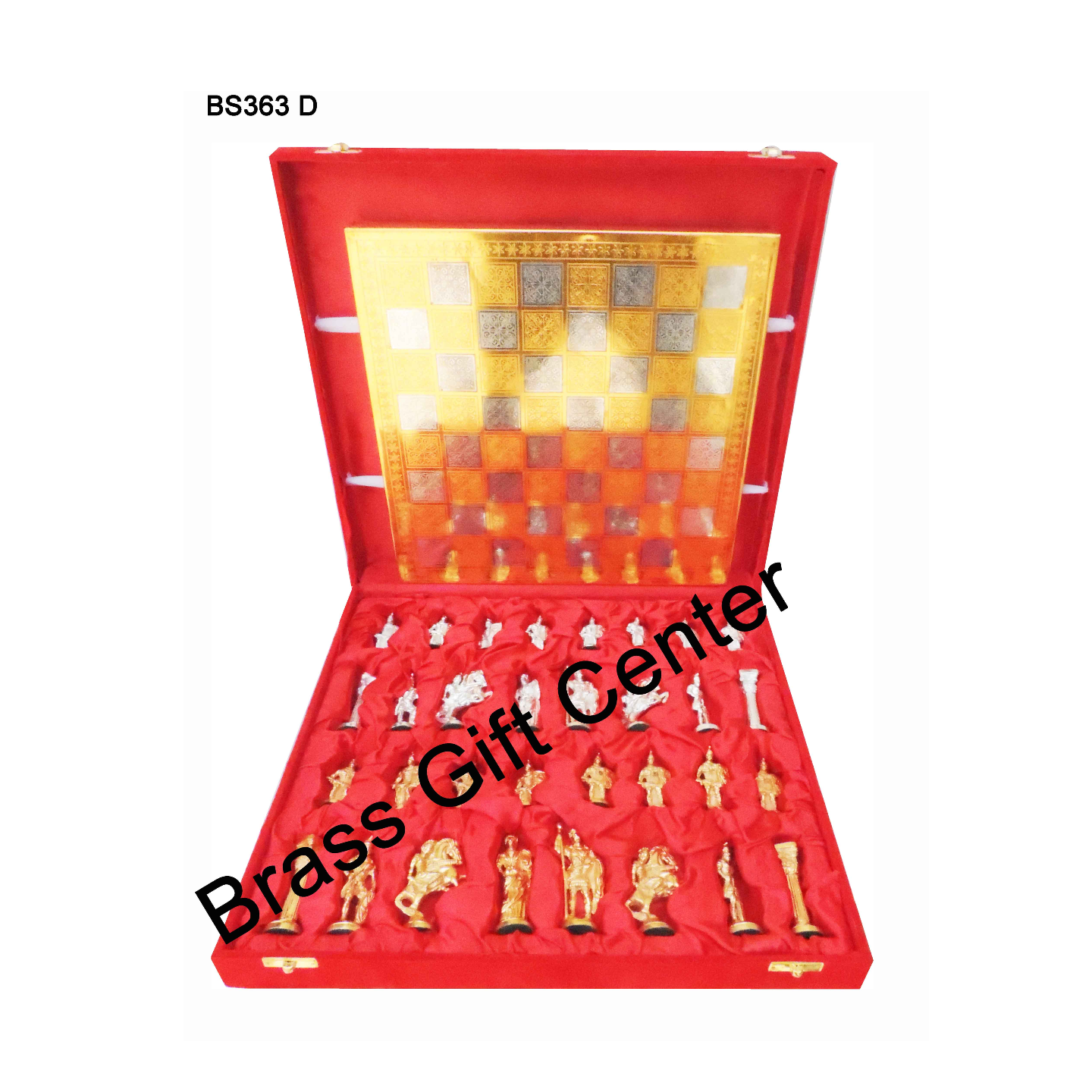 Brass Chess In Gold And Silver Finish - 1212 Inch  BS363 D