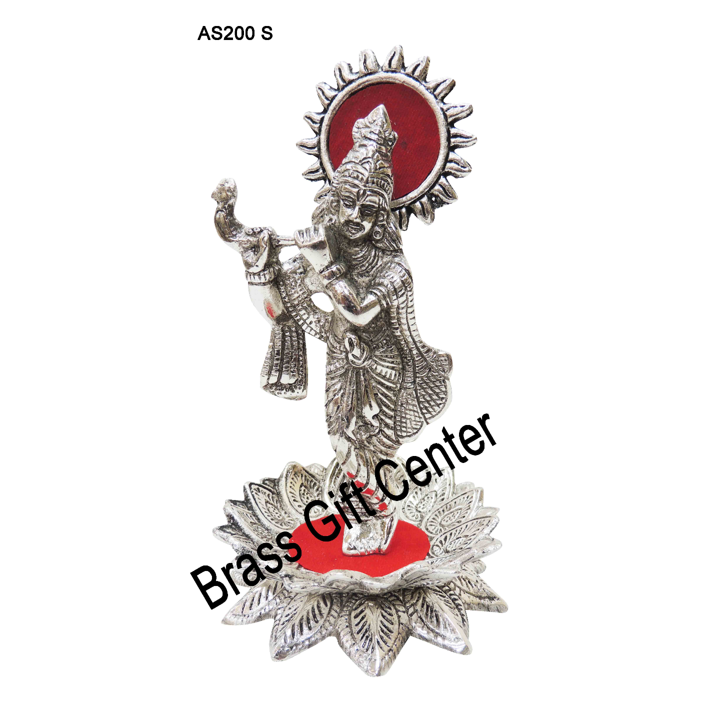 Aluminium Krishna Statue Murti Idol Silver Antique finish  - 3.5*3.5*6.5 Inch (AS200 S)