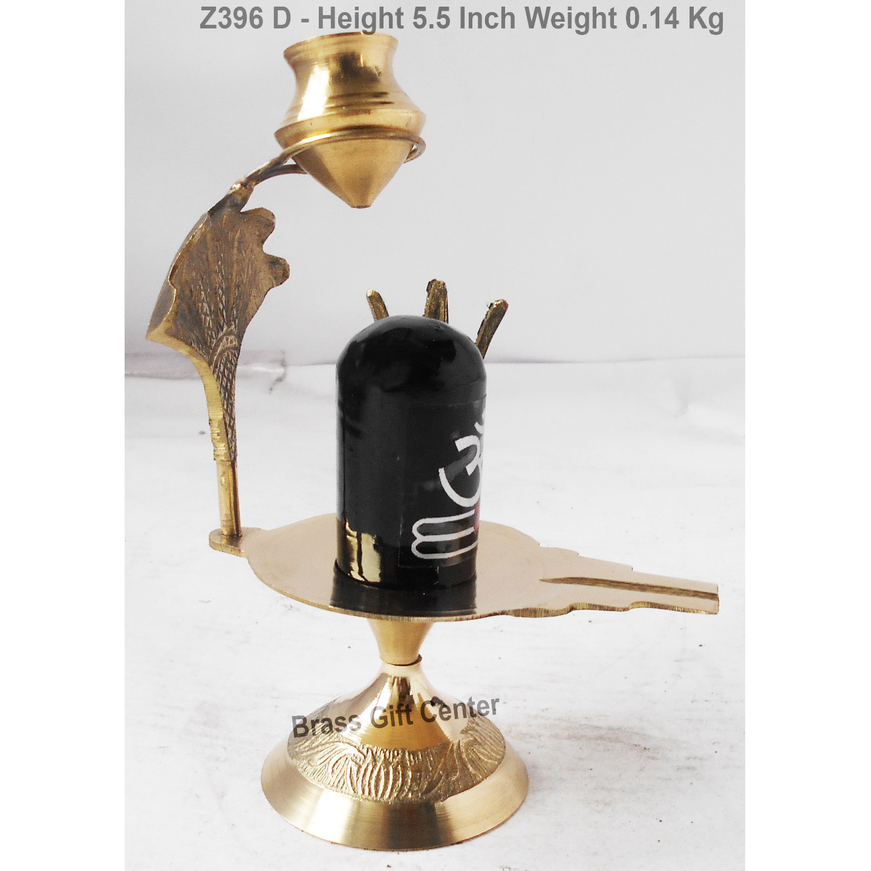 Brass Showpiece Shivling God Idol With Brass & Meena Finish Height 5.5 Inch Z396 D
