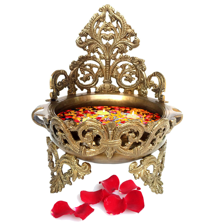 Decorative Brass Urli - Floating Flower Pot BS1148 A