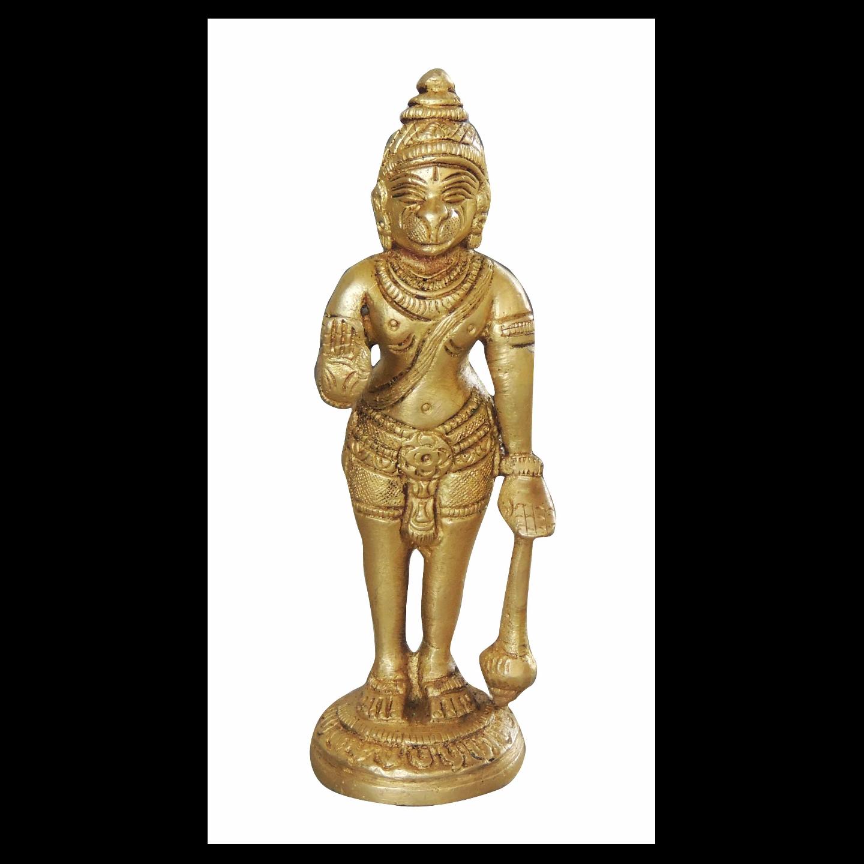 Brass Hanuman Statue Murti idol 0.38 kg - 1.5*1.5*5.5 inch  (BS1070 B)