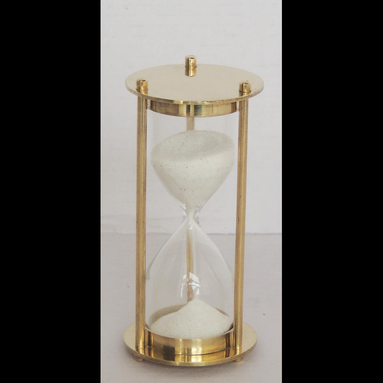 Brass Sand Timer - 1.3*1.3*3.6 Inch  (Z257 A)