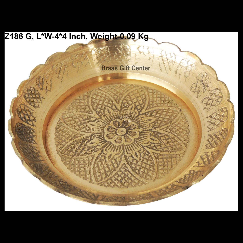 Brass Kachua [Tortoise] Plate No. 4 - 4*4 Inch  (Z186 G)