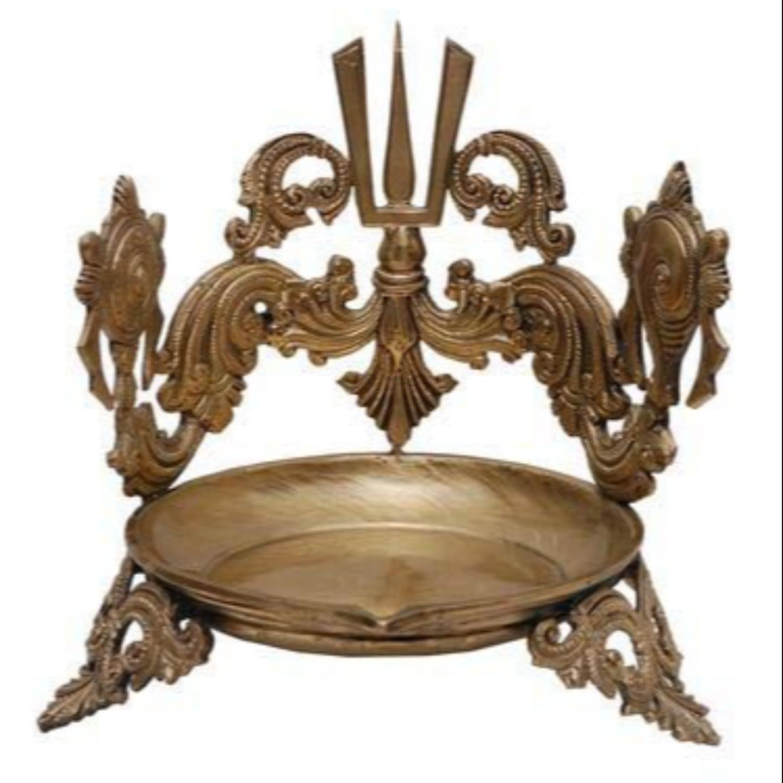 Brass Made Lord Vishnu Shankh Chakra Namah Symbol Figure HomeEvent Decor BS1140 A