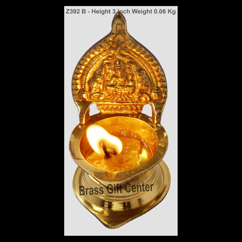 Brass Kamakshi Velakku Deepak - 1.5*3*3 Inch  (Z392 B)