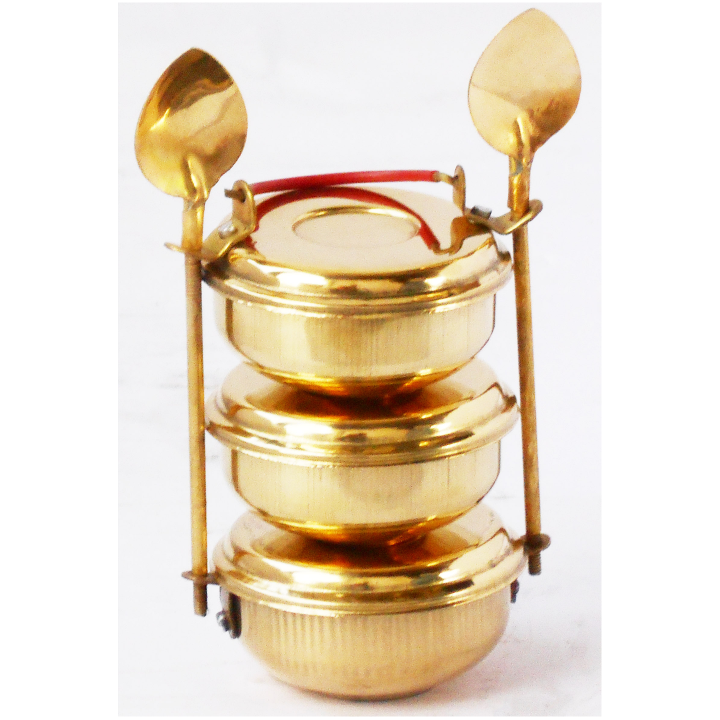 Brass Lunch Box Small Miniature Toy For Children Playing - 3*3*5.5 Inch (Z335 D)