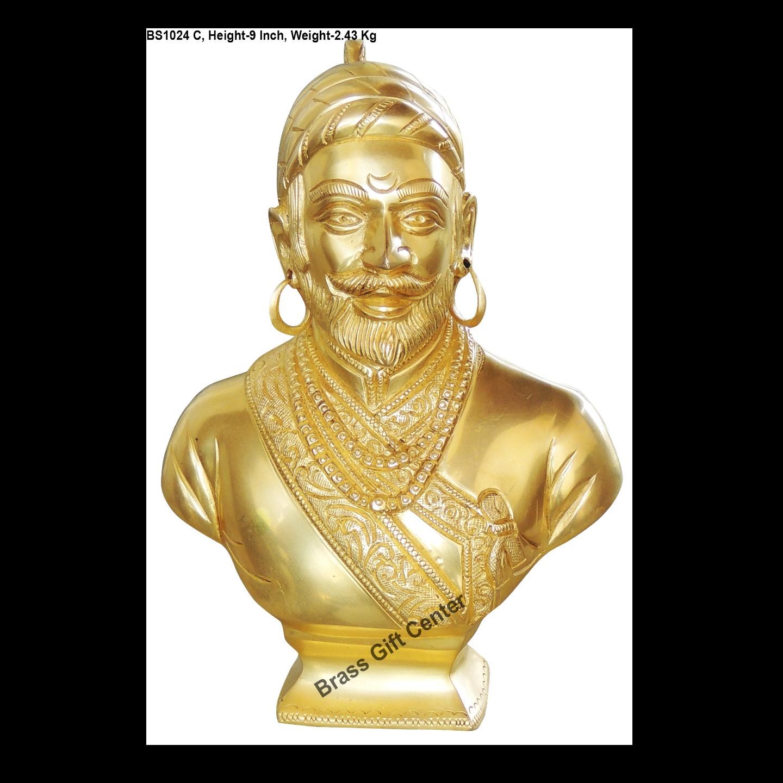 Brass Shivaji Maharaj Murti Statue idol- 62.59 inch  BS1024 C